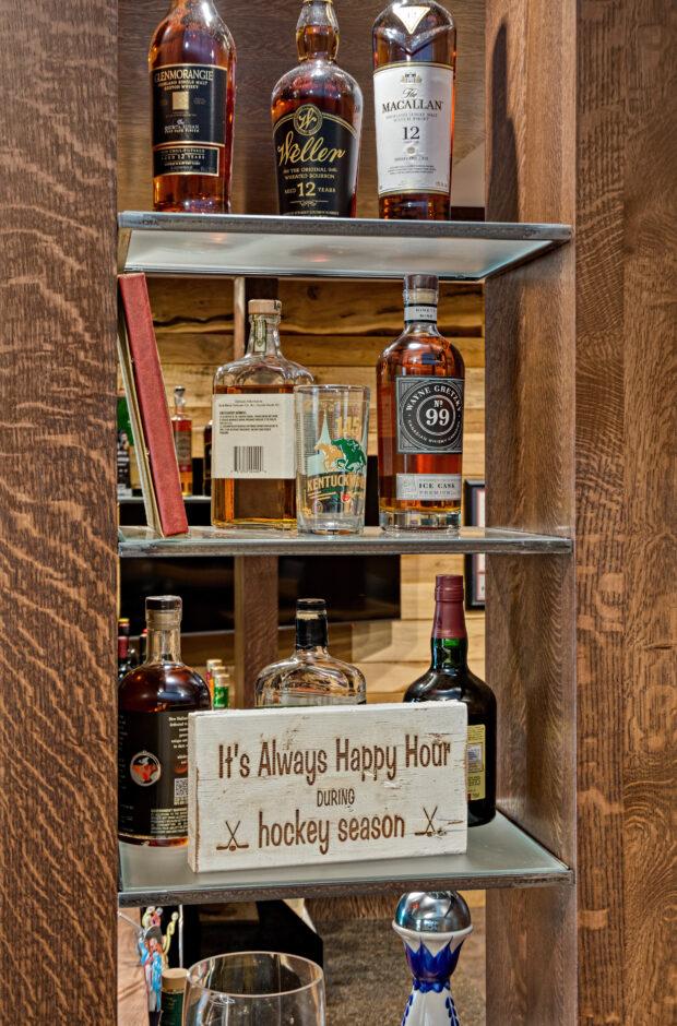 Bar shelf detail